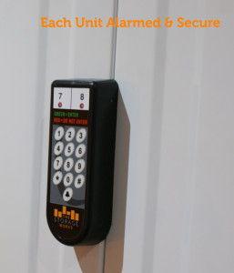 Keypad Showing How To Alarm Self Storage Unit